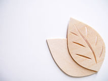 Leaf symbol logo concept, wood cutting design illustration icon Stock Photography