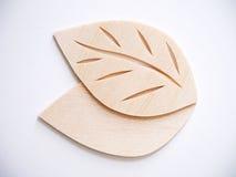 Leaf symbol logo concept, wood cutting design illustration icon. Sign Royalty Free Stock Photography
