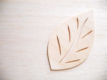 Leaf symbol logo concept, wood cutting design illustration Royalty Free Stock Image