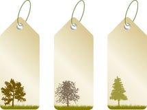 Leaf tags Stock Photo