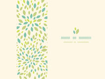 Leaf texture horizontal frame seamless pattern Stock Photos