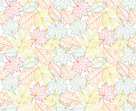 Leaf texture vector seamless autumn pattern Stock Photography
