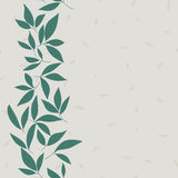 Leaf vector pattern. Seamless doodle flowers. Royalty Free Stock Photo