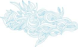 Leaf wave background Stock Images
