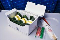 Leaf wrapped sushi Stock Image