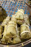 Leaf Wrapped Sweet Rice In Bangkok Market Stock Image