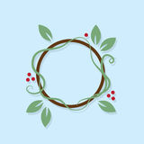 Leaf Wreath Royalty Free Stock Photo