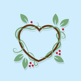 Leaf Wreath Heart Royalty Free Stock Photos