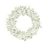 Leaf wreath sketch for your design Stock Image