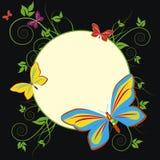 leafage бабочек иллюстрация вектора