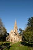 LEAFIELD OXFORDSHIRE/UK - MARS 24: St Michael och alla änglar royaltyfri foto