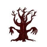 Leafless fantasy tree Stock Images