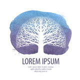 Leafless tree logo. oak vector icon. nature, ecology symbol Stock Photography