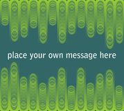 Leaflet background in green design Royalty Free Stock Photography
