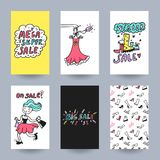 Leaflet bargain sale vector Royalty Free Stock Images