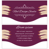 Leaflet for beauty salon Royalty Free Stock Photography