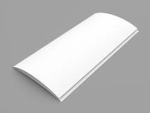 Leaflet blank tri-fold white paper brochure vector illustration