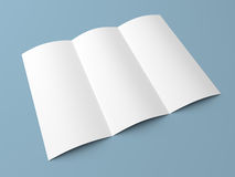 Leaflet blank tri fold white paper brochure Royalty Free Stock Image