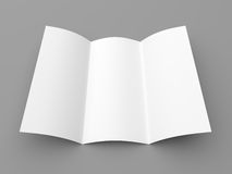 Leaflet blank tri-fold white paper brochure Stock Photography