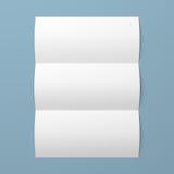 Leaflet blank tri-fold white paper brochure Stock Images
