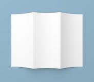 Leaflet blank tri-fold white paper brochure Stock Photo