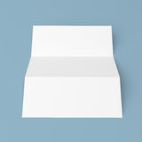 Leaflet blank trifold white paper brochure Royalty Free Stock Photography