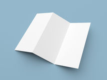 Leaflet blank zigzag-fold white paper brochure Royalty Free Stock Image