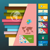 Leaflet and Business Cards Set. Royalty Free Stock Photography