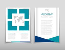 Leaflet cover presentation abstract geometric background, layout in A4 set technology brochure flyer design template. Poster brochure flyer design template Stock Illustration