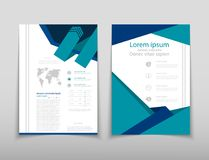 Leaflet cover presentation abstract geometric background, layout in A4 set technology brochure flyer design template. Poster brochure flyer design template Royalty Free Illustration
