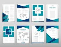 Leaflet cover presentation abstract geometric background, layout in A4 set technology brochure flyer design template. Poster brochure flyer design template Vector Illustration