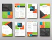 Leaflet cover presentation abstract geometric background, layout in A4 set technology brochure flyer design template. Poster brochure flyer design template vector illustration