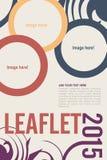 Leaflet design. Editable Leaflet template design Stock Photos
