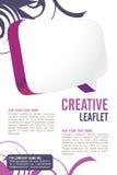 Leaflet design stock illustration