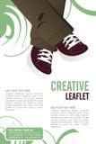 Leaflet design. Editable Leaflet template design Stock Photography