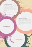 Leaflet design. Editable Leaflet template design Royalty Free Stock Images
