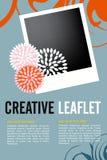 Leaflet design Royalty Free Stock Photos