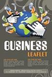 Leaflet design Stock Images
