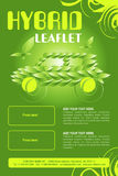 Leaflet design Royalty Free Stock Image