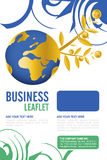 Leaflet design Stock Photography
