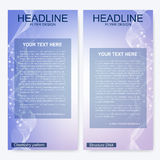 Leaflet flyer layout. Magazine cover corporate identity template. Science and technology design, structure DNA Royalty Free Stock Images