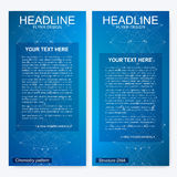 Leaflet flyer layout. Magazine cover corporate identity template. Science and technology design, structure DNA Royalty Free Stock Photography