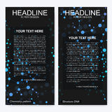 Leaflet flyer layout. Magazine cover corporate identity template. Science and technology design, structure DNA Royalty Free Stock Photo