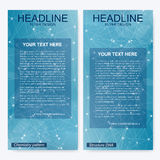 Leaflet flyer layout. Magazine cover corporate identity template. Science and technology design, structure DNA Royalty Free Stock Photos