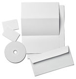 Leaflet letter business card white blank paper template Stock Images
