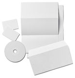 Leaflet letter business card white blank paper template Stock Photos