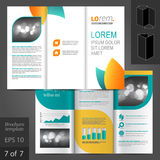 Leaflet Template Design Stock Photography