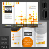 Leaflet Template Design Stock Image