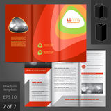 Leaflet Template Design Stock Photo