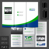 Leaflet Template Design Stock Images